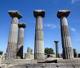 Ruins of the Temple of Athena in Assos, Turkey