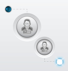 QR agent button icon on whtite background. GIF turn on and off vector illustration. EPS10.