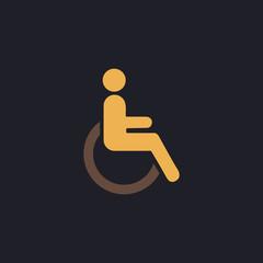 Disabled computer symbol