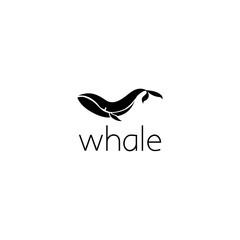 whale logo graphic design concept