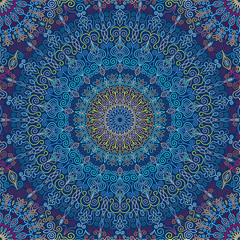 Mandala Pattern Blue vibration