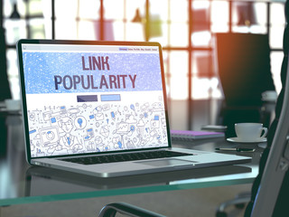 Link Popularity - Concept on Laptop Screen. 3D.