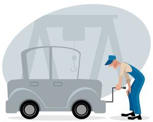 Mechanic and car