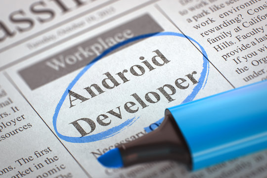 Now Hiring Android Developer. 3D.