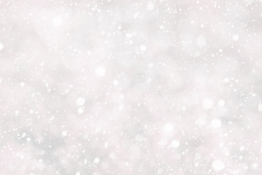 Christmas Background With Snwoflakes And Bokeh, Pink Color