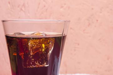 sweet soda in a glass