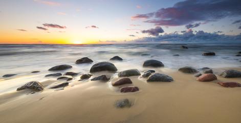sunset over the sea beach