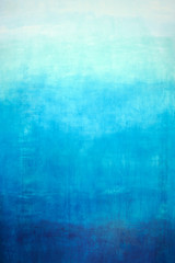 Hand drawn blue gradient on wall