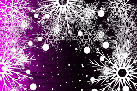 Winter purple background with snowflakes. Christmas vector pattern design for greeting card