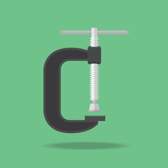 Clamp Icon vector flat design.