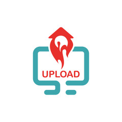 Upload icon vector illustration.