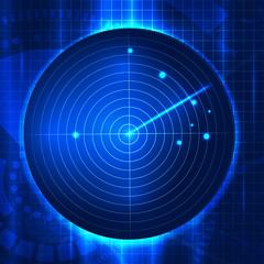 Vector illustration  of abstract vector radar screen
