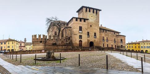 Medieval Sanvitale Castle in Fontanellato near Parma, Emilia Romagna region, Italy.