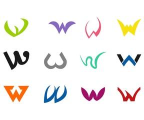 logo letter W modern simple