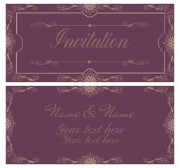 Vintage invitation card.