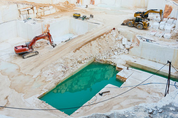 Marble quarry pit