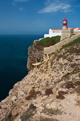 St. Vincent Cape and lighthouse, Algarve, Portugal.
