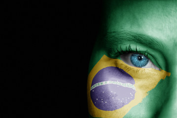 Supporter of Brazil Wall mural