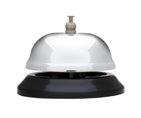 Bellhop Bell isolated on white with clipping path included