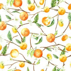 watercolor pattern orange