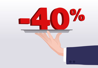 Service - 40%