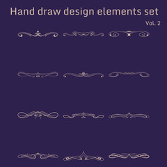 Bunch of simple and elegant design elements