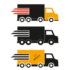 Delivery icon, vector delivery truck