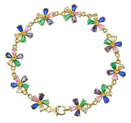 Bracelet with colored stones