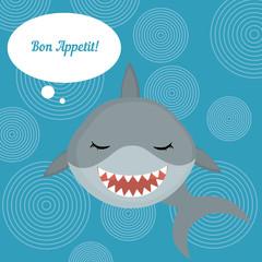 "Shark says ""Bon Appetit"""