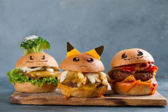 Gourmet  tasty  burgers