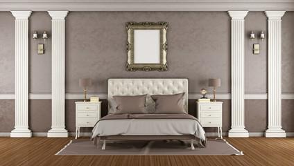 Luxury brown master bedroom