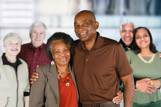 Group of Elderly Couples