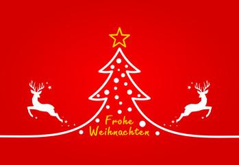 Christmas Tree and Deers