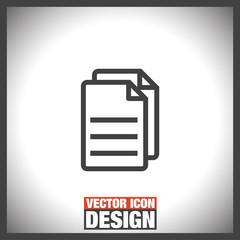 Copy document line vector icon. Office file line sign. Business note sign.