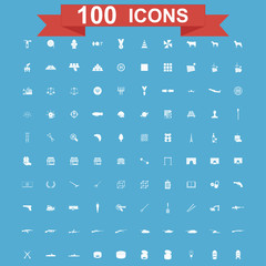 Icon set, Universal website, Construction, industry, Business, Medical, healthy and ecology icons.