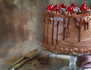 "Chocolate cake ""Drunk cherry"""