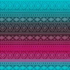Seamless vector tribal texture. Vintage ethnic seamless backdrop. Tribal seamless texture.  Striped vintage boho fashion style pattern background with tribal shape elements.