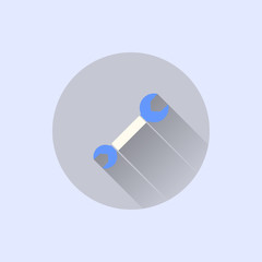 spanner icon. flat style
