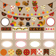 thanksgiving bunting clipart