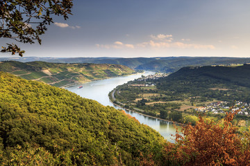 View from Gedeonseck onto the Upper Middle Rhine Valley Fototapete
