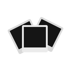 Photographs icon in flat style isolated on white background. Pictures symbol vector illustration