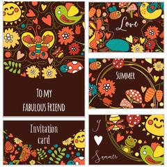 Greeting  Template, invitation,   card,  happy Birthday cards. Wedding  RSVP card. Marriage event. Valentine design
