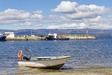 Boats on Vilaxoan fishing port