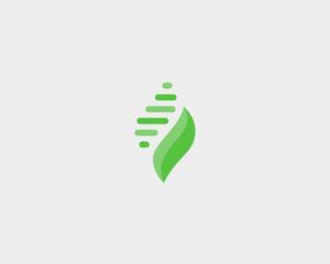 Abstract leaf shell universal premium logo design. Creative beauty vector symbol.
