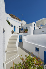 Blue and white imerovigli , Santorini