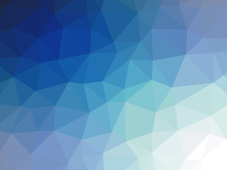 Teal navy blue gradient polygon shaped background