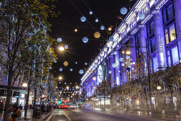 Christmas lights in London