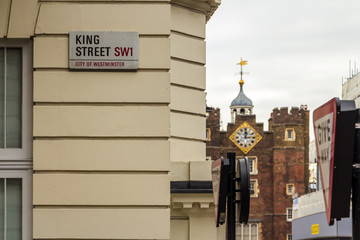 Street name plate, London