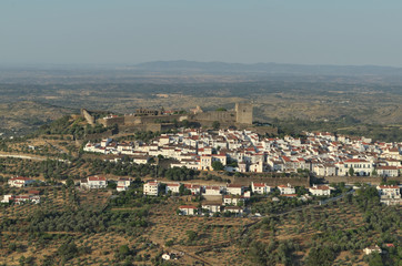 Overview of Castelo de Vide from Nossa Senhora da Penha Chapel. Travel and vacation destinations
