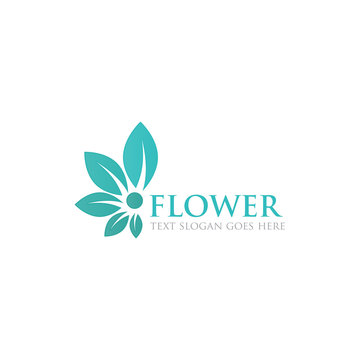 leaf flower logo icon